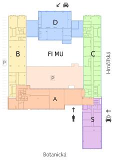 Plán budov FI MU
