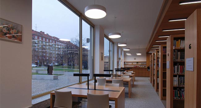 FI Library in the new building