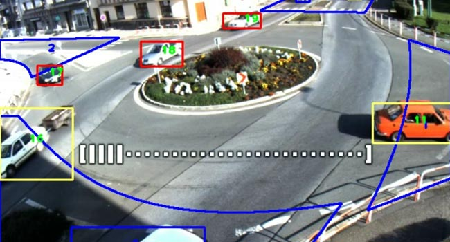 Detection of vehicles passing on a junction (from the student's final thesis)
