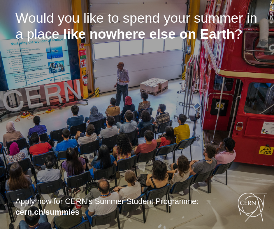 Summer internship in CERN, Switzerland