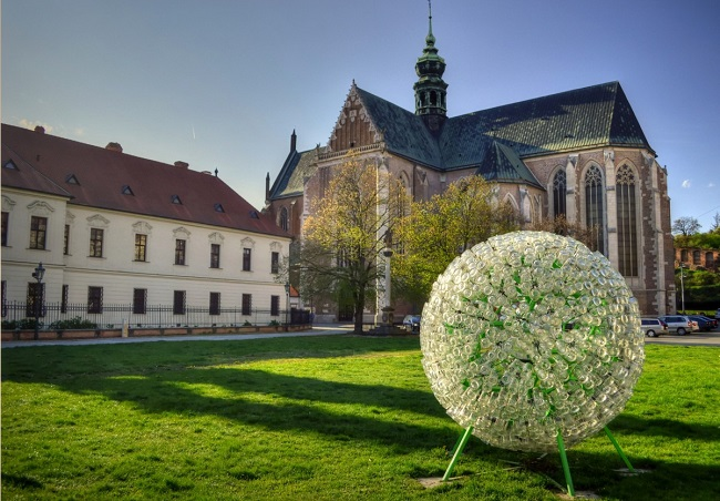 Mendel Square in Old Town, Brno,  										    where scientists like Gregor Mendel and  										    Scott's colleague from Princeton Kurt Gödel worked